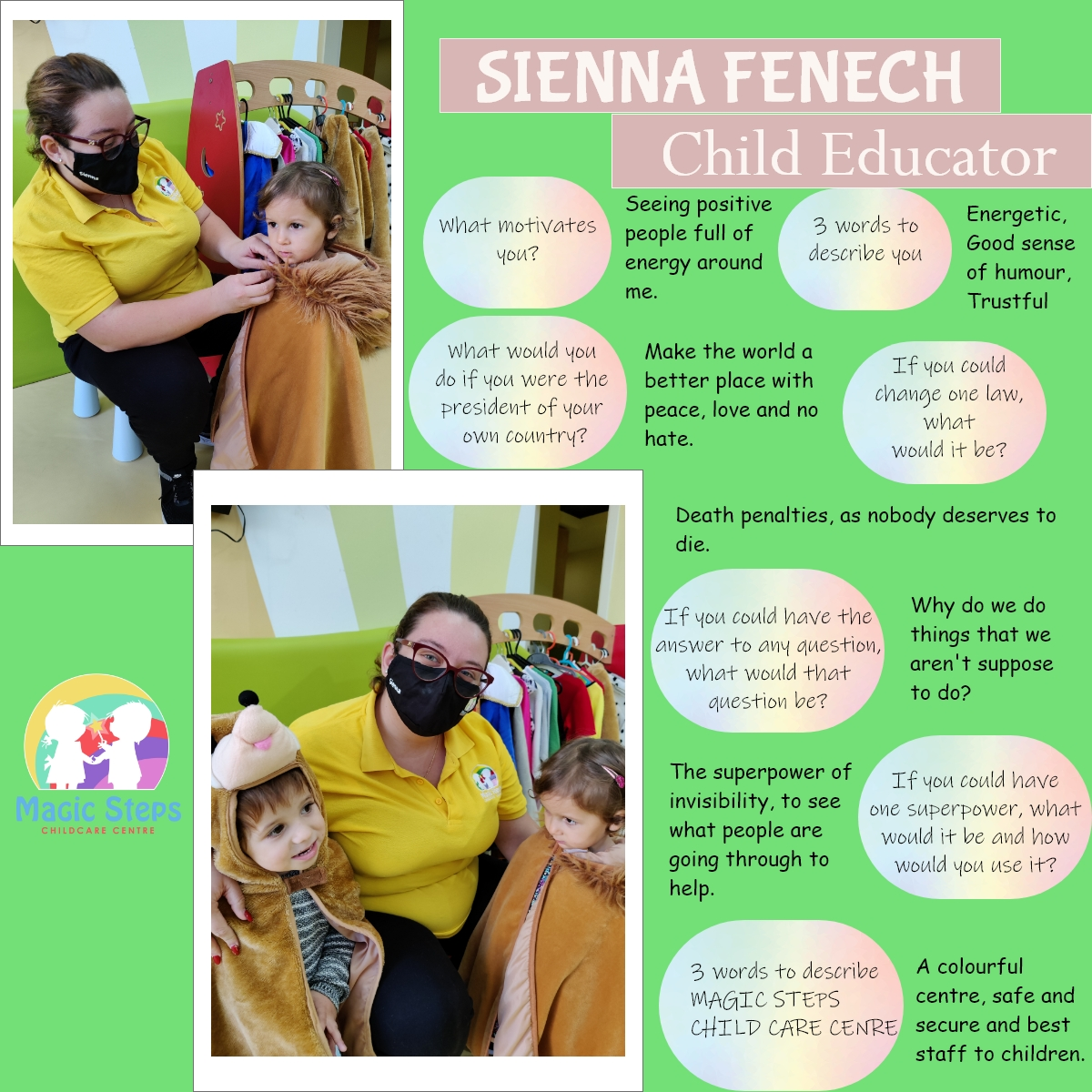 Meet Sienna-Child Educator
